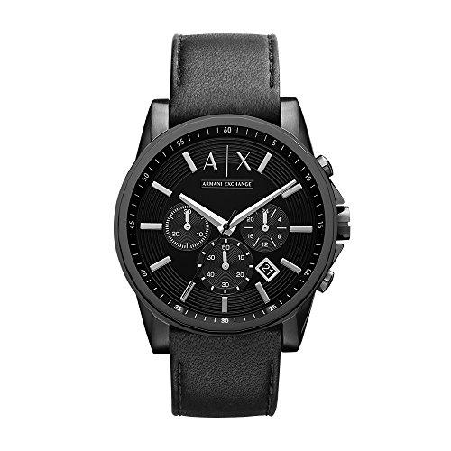 Armani Exchange Men's AX2098 Black Leather Watch by A|X Armani Exchange