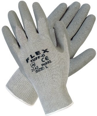 MEMPHIS GLOVE 9688XL Extra Large Flex Tuff Iigray Cotton/Poly Shell 1 (Price is for 12 (Flex Tuff Gloves)