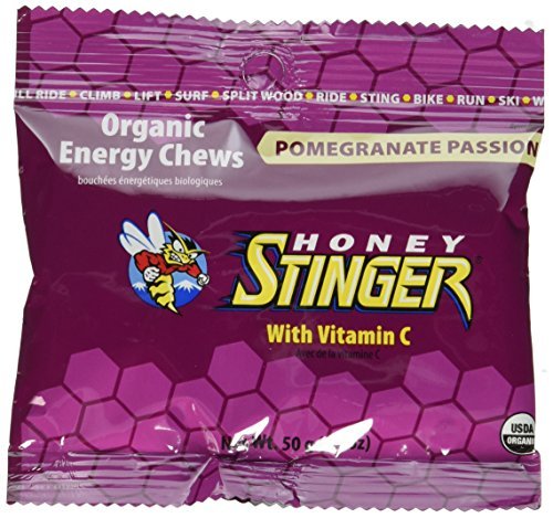 Honey Stinger Organic Energy Chews, Pomegranate Passion, 1.8 oz (Pack of 12)