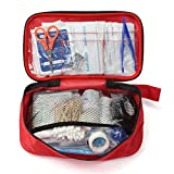 OlogyMart 180Pcs Outdoor Wilderness Survival Travel First Aid Camping Hiking Medical Emergency Treatment Pack