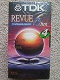 TDK Revue Standard Grade VHS Tapes 6 Hours 4 Pack