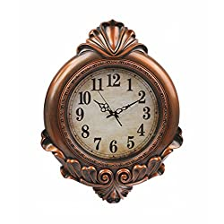 Round Framed Wall Clock Classic Non Ticking Silent Clock AA BATTERIES INCLUDED (29 inch, Dark Bronze)