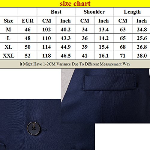 Dress Waistcoat Zhuhaitf Vest Buttons Button Down negro Men's Suit Diseño superior 3 Breasted Single zx7pz1qr