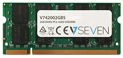 V7 2GB DDR2 PC2-4200 533Mhz SO DIMM Notebook Memory Module - V742002GBS