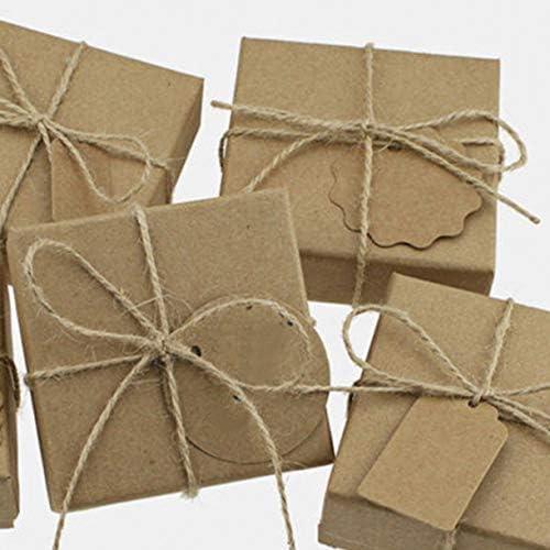 ZHONGJIUYUAN 5個 (ロール毎50M、合計820フィート) 麻紐 チーズ巻き 麻ひも ジュート 太い麻紐 ギフト 園芸 荷造り 梱包用