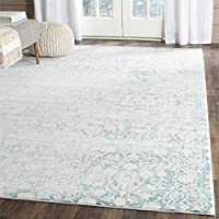 Safavieh Passion Collection PAS403B Vintage Medallion Watercolor Turquoise and Ivory Distressed Area Rug (9 x 12)