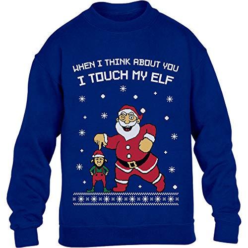 Elf Natale E Bambini Di Touch My Maglione Per I Blu Ragazzi qngEUpP