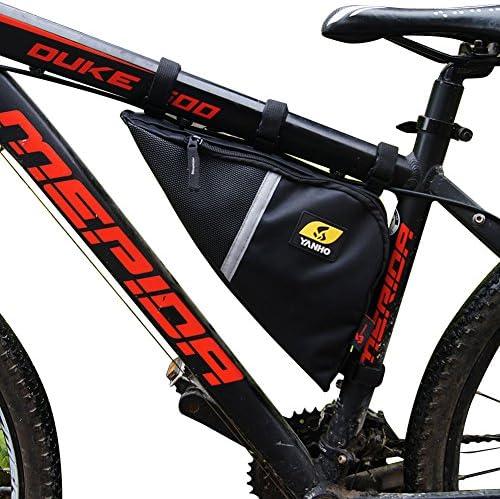 Fahrradtasche Dreieck Tasche Rahmentasche Bike Triangle Bag+Flasche Halter #OS