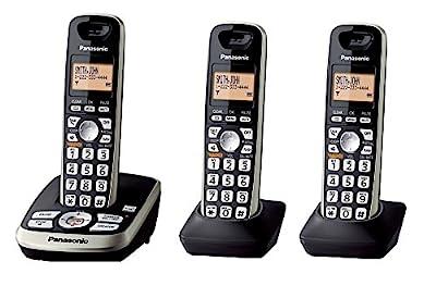Panasonic KX-TG4223B Expandable Digital Cordless Answering System with 3 Handsets (Certified Refurbished) (KX-TG4223N BLACK)