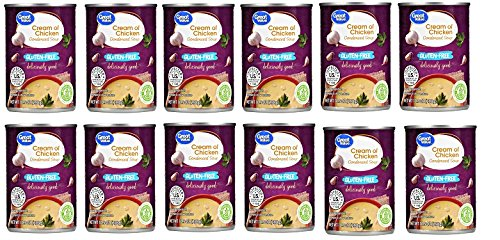 Great Value Gluten Free Cream of Chicken Condensed Soup, 10.5 oz, Pack of 12