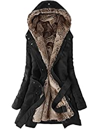 Winter Coats for Women Thicken Lamb Wool Hooded Cotton Jackets