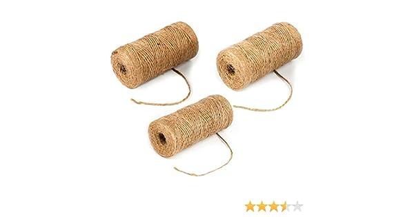 Gydandir - Cuerda de yute natural de 300 metros biodegradable de ...