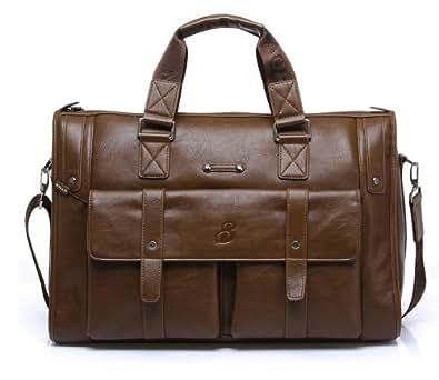 MyLux Men Laptop Travel Briefcase 1041-5 light brown
