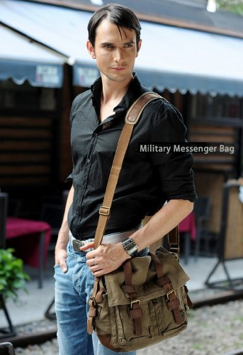 Amazon.com | SERBAGS Military Style Messenger Bag - Premium ...