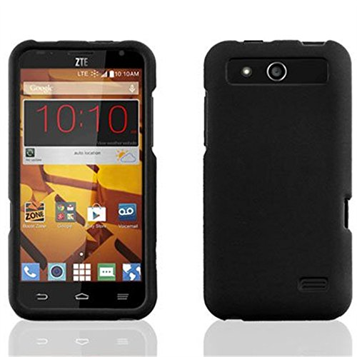 ZTE Speed Case, Nex® Multicolor Rubberized Case Hard Snap on Protective Cover for ZTE Speed N9130 (black)