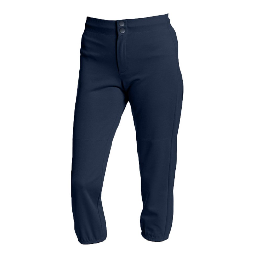 Intensity Girl's Youth Baseline Low Rise Double Knit Softball Pant, Navy