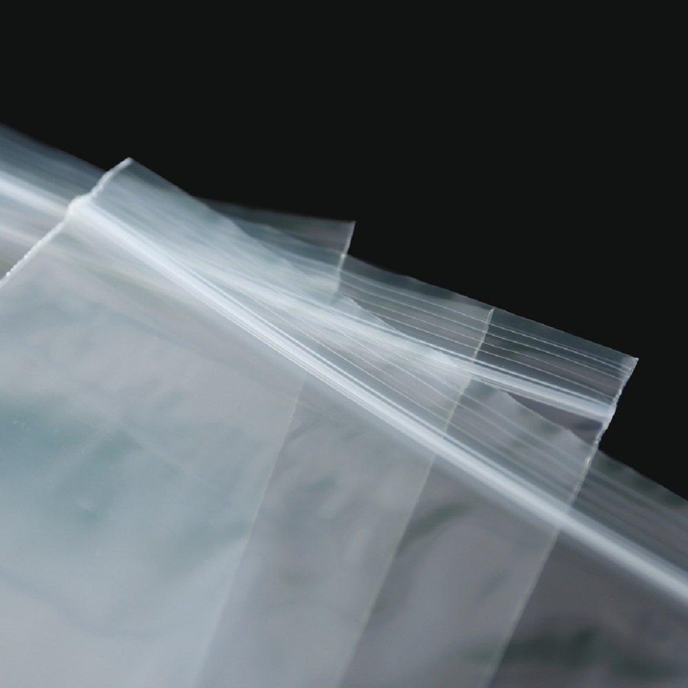 Piokio 6'' x 9'' Reclosable Plastic Bag Resealable Zip Bags, Clear, 2 Mil, Pack of 200 by Piokio (Image #3)