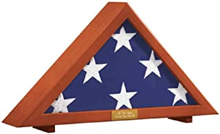 "product image for Flag Display Case Memorial with Personalized Brass Plaque 24 1/2"" L x 12"" H x 4"" D"
