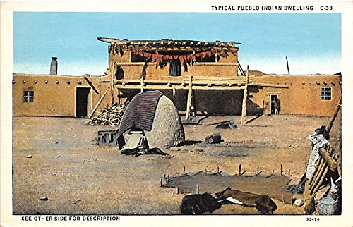 - Typical Pueblo Indian Dwelling Indian Postcard