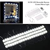T-Trees Makeup Mirror Light, 9.8FT 60 LED Vanity Mirror Lights Kits for Cosmetic Makeup Vanity Mirror with Power Supply and Touch Dimmer Switch (60 LED Vanity)