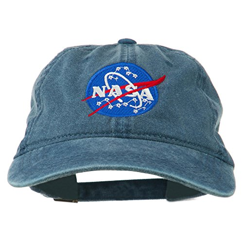 Navy Insignia Cap (E4hats NASA Insignia Embroidered Pigment Dyed Cap - Navy OSFM)