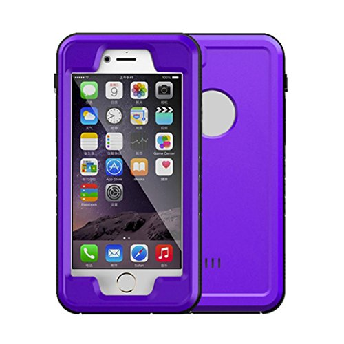 Price comparison product image GBSELL IP68 10M Waterproof Shockproof Dirt Proof Cover Case for iPhone 6/6S 4.7inch (Purple )