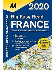 Big Easy Read France 2020 Spiral bound (AA Road Atlas France)