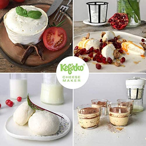 Kefirko Cheese Maker/Set per preparare formaggio di kefir in casa beige