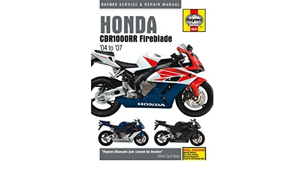 amazon com 04 07 honda cbr1000rr haynes repair manual automotive rh amazon com service manual cbr 1000 rr 2006 service manual cbr 1000 rr 2006