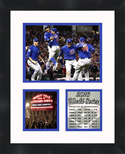 (Frames by Mail Chicago Cubs 2016 World Series Framed Photo, White)