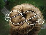 Silver Spiral Hair Clip Barrette Bun Holder customized Scarf Pin hair pin Hair Cuffs Western Valentine's Day Gift.