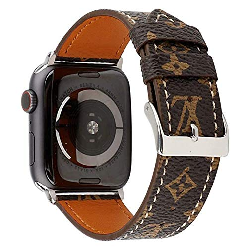 Lybauri 38mm 40mm Leather iWatch Band, ELegant Luxury Design Band for Apple Watch Series 5 Series 4 Series 3 Series 2 Series 1