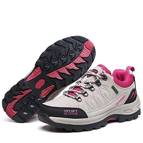 Randonnée Chaussures Clair De Gris Basses Muou Pour Femme w4nagqzZ