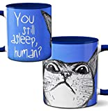 Peeking Cat Mug by Pithitude - One Single 11oz.Blue Coffee Cup