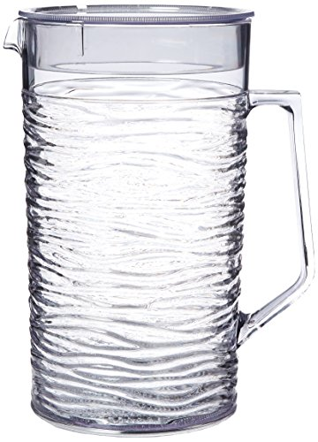 Figurine Pitcher (Service Ideas SI2LITCL Pitcher with Lid, 2 L, Clear)