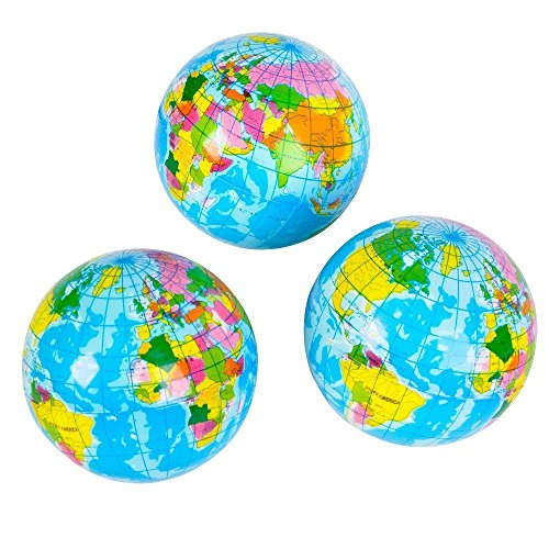 3'' Squeeze Globe (1 DOZEN) - BULK by Fun Express