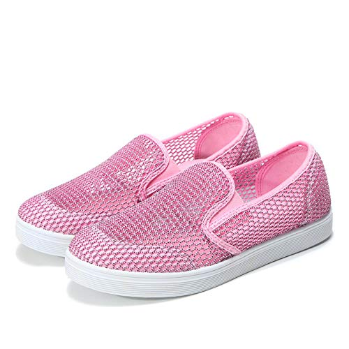 Hot Women's Shoes2 Shoes Breathable Soft Sneakers Flat Riou Running Hollow Mesh Pink Shoes 6vPqxRCdw