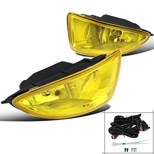 For Honda Civic 2/4 Door Yellow Front Bumper Fog Lights Driving (Driving Yellow Lights)