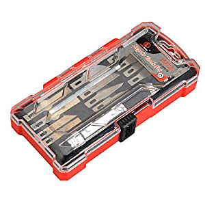 15 Piece Precision Craft Utility Knife Set, Sharp Scalpel Razor Knives Tool for Architecture Modeling, Scrapbooking, Felt&Wood&Leather Working- Stencil, Scoring, Chiseling Blades