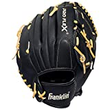 Franklin Sports Pro Flex Hybrid Series Baseball Fielding Glove, Right Hand Throw, 12-Inch, Black/Camel