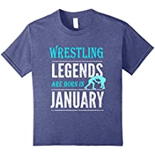 Best Wrestling Gift T-Shirt, Legends are Born in January