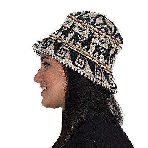 HAT CAP CHULLO UNISEX Alpaca Wool Rustic made in PERU BEIGE dsg12