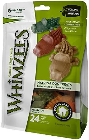 Whimzees Small Alligator Dog Treats, 24 Pieces 12.7 oz