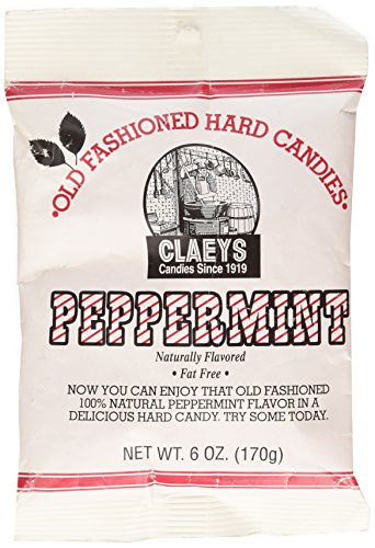(Claey's, Old Fashioned Hard Candy Peppermint, 6 Ounce Bag)