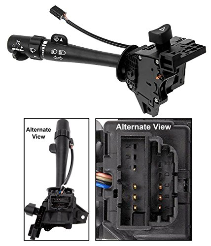 Cruise Wiper Control Lever - APDTY 12450067 Multifunction Switch Includes Turn Signal Cruise Control Wiper Washer High Low Beam & Hazard (Fits Models In Compatibility Chart With Crusie Control; Replaces D6299A, 12450067)