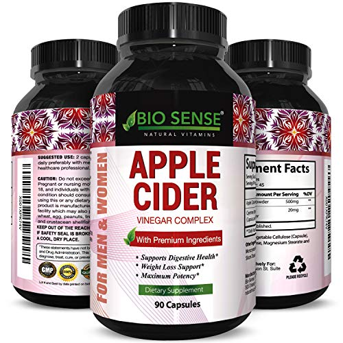 Apple Cider Vinegar Weight Loss Supplement Natural Detox Fat Burner Diet Pills Digestion Support Fast Acting Metabolism Booster Best Appetite Suppressant for Men and Women 90 Capsules (Best Herbal Fat Burner)