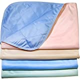 Washable Bed Pads / Stain Resistant Quick Absorbent Reusable Incontinence Underpads 30x36 - 4 PACK - Blue, Green, Tan and Pink - Ideal For Children And Adults Wholesale Incontinence Protection