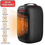 Electric Small Space Heater, [2019 Upgarded] Space Heater with Overheat Protection & Tip-Over Protection, 750W / 950W Portable Electric Space Heater for Office and Home