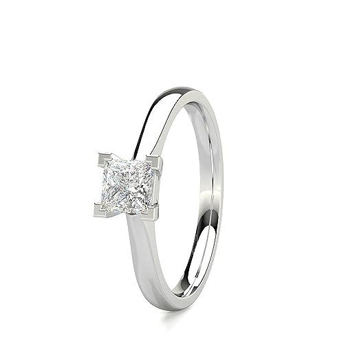 seleccione para el último auténtico ventas calientes 0,50 ct (ct) corte princesa diamante clásico solitario ...