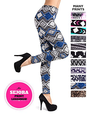819b319402392 PL-SLE-1711 SEJORA Printed Leggings Full Length Patterned with Designs - (One  Size, Sapphire) - Buy Online in Oman. | Apparel Products in Oman - See  Prices, ...